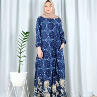 DRESS MUSLIM GAMIS WANITA MOTIF BEST SELLER NANDIA MAXY