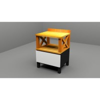 Minimalist Open Half Side Table by Hato Design