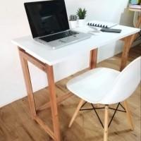 meja belajar lipat portable uk 80cm - meja kayu/meja kerja - Putih