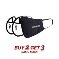 Masker Kain Basic Footstep Footwear - (PAKET BUNDLING 3 PCS) EARLOOP