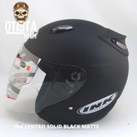 Helm Half Face Ink Centro Black Matte Matt Hitam Dof Dop Polos - Ukuran M