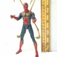 Figur iron spiderman Avengers Infinity war Action Figur koleksi mainan