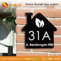 Nomor Rumah Akrilik Acrylic LED MURAH