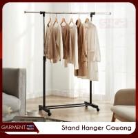 Stand Hanger Rak Gawang Gawangan Jemuran Serbaguna Gantungan Pakaian