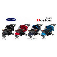 Pliko Baby Stroller Boston 338N (Corak Baru) New