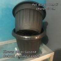 Pot Bunga Denali Ukuran 30Cm Kode 1040 Warna Hitam