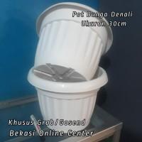 Pot Bunga Denali Ukuran 30Cm Kode 1040 Warna Putih