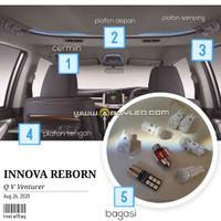 Lampu Plafon Kabin Mobil Innova Reborn LED Paket isi 8 Super Bright v2