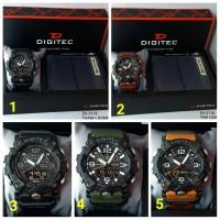 Jam Tangan Pria Digitec DA 3118 set Dompet Original