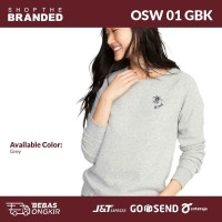 Sweatshirt Wanita - Old Navy Sweatshirt Crew Neck Bee Kind[OSW 01 GBK] - OSW 01 GBK GREY, XS