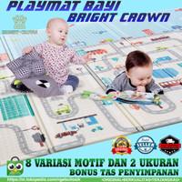 PLAYMAT/PLAYMATE/KARPET BAYI BRIGHT CROWN MOTIF LUCU BEST SELLER