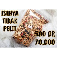 Granola Roasted 500 gr (Mix Seed & Goji Berry & Raisins) by YDG - Oat - Less Sugar