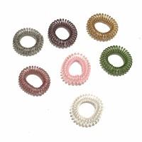 Karet Kabel Spiral Set Kuncir / Ikat Rambut Made in Korea - 12315/2pcs