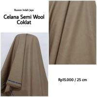 Kain Celana Semi Wool Coklat Polos