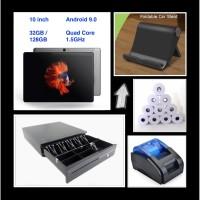 Paket Mesin Kasir Online POS -- Tablet Android + Printer + Cash Drawer