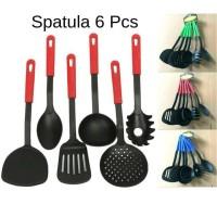 Spatula Set 6 In 1 - Peralatan Tumis Masak Centong - Kitchen Tool sode