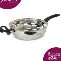 Wajan Fry Pan Stainless 24cm Kirin Bonang Series (Bisa Kompor Induksi)