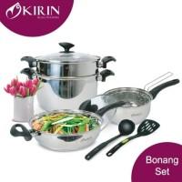 Panci Set Kirin Stainless|Panci Set Kirin Bonang Series|Cookware Set