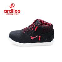 Ardiles Kids Big Denim K Sepatu Sneakers Anak - Hitam Merah Abu