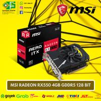 VGA MSI Radeon RX550 4GB GDDR5 OC 128Bit / RX 550 128 Bit Baru