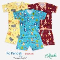 SML/XL/XXL - 1 Pcs Stelan Pendek Aruchi Baju Piyama Anak Bayi ELEPHANT