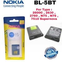 Baterai Battery Original Nokia BL-5BT BL5BT BL 5BT 2600c 2630 2760 N75