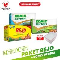 Paket Bejo + Komix Herbal Masuk Angin 2 FREE Komix Lunchbox