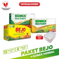 Paket Bejo + Komix Herbal Masuk Angin 1 FREE Komix Lunchbox