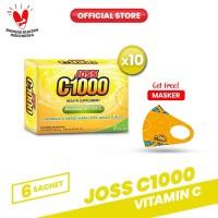 Joss C1000 Vitamin C 10 Pack (60 Sachet) FREE Masker