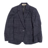 MOEJOE Grey Glencheck Pattern Blazer