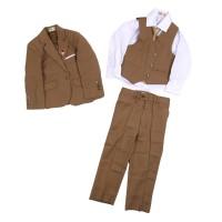 MOEJOE Brown Plain Suit