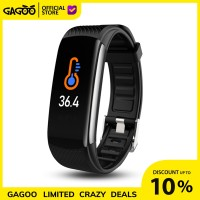 Smartband Thermometer C6T [ORIGINAL] Gelang Suhu Smart Band Heart Rate