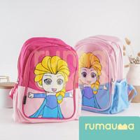 RUMAUMA Frozen Elsa Backpack Tas Ransel Anak Sekolah Travel Anna Imut