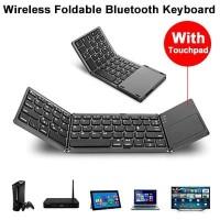 Foldable Keyboard Touchpad Wireless Bluetooth Lipat 3