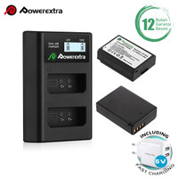Powerextra Baterai Canon LP-E10 2Pack With Dual Charger + Fast Adaptor