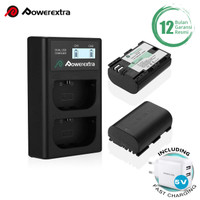 Powerextra Baterai Canon LP-E6 2 Pack With Dual Charger + Fast Adaptor
