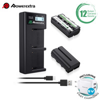 Powerextra Baterai Sony NP-F570 2Pack With Dual Charger + Fast Adaptor