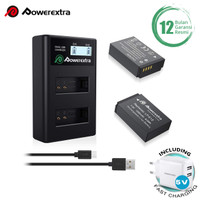 Powerextra Baterai Canon LP-E12 2Pack With Dual Charger + Fast Adaptor