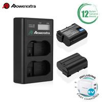 Powerextra Baterai Nikon EN-EL15 2Pack With DualCharger + Fast Adaptor