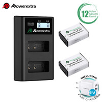 Powerextra Baterai Canon LP-E17 2Pack With Dual Charger + Fast Adaptor