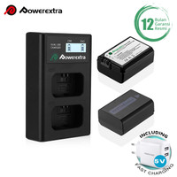 Powerextra Baterai Sony NP-FW50 2Pack With Dual Charger + Fast Adaptor