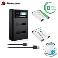 Powerextra Baterai Fuji NP-45 2 Pack With Dual Charger + Fast Adaptor