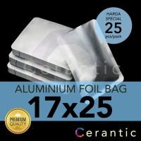Aluminium Foil 17x25 cm Kemasan Sachet Silver Bubuk Kopi Bumbu Teh