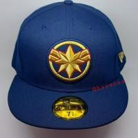 New Era Cap 59Fifty Captain Marvel Size 7 5/8 / Topi New Era Marvel