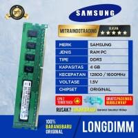 RAM SAMSUNG LONGDIMM DDR3 4GB PC 12800 / 1600 MHZ