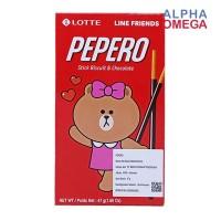 PEPERO LINE CHOCO ORIGINAL 47 GRAM - STICK BISKUIT BERLAPIS COKELAT