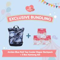 Bundling Jordan Cooler Diaper Backpack & 3 box Kantong ASI