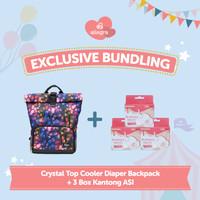 Bundling Crystal Cooler Diaper Backpack & 3 box Kantong ASI