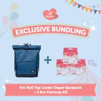 Bundling Eric Cooler Diaper Backpack & 3 box Kantong ASI