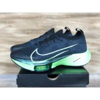 "Sepatu Nike Air Zoom Tempo Next% Black Electric Green"" Premium"